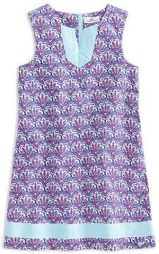 Vineyard Vines Girls' Scallop Print Tunic Shift Dress - Little Kid