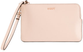 DKNY zipped logo purse