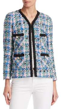 Edward Achour Embellished Multicolor Tweed Jacket