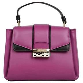 Bulgari Purple Leather Handbag
