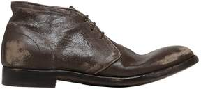 Alberto Fasciani Vintage Effect Leather Lace-Up Shoes