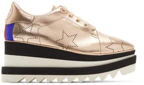 Stella McCartney Rose Gold Sneak-Elyse Stars Sneakers