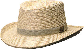 Scala 321OS Gambler Straw Hat with Golf Badge (Men's)