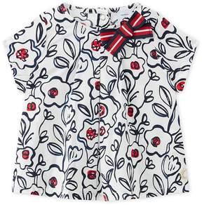 Petit Bateau Baby girl's poplin blouse.