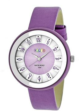 Crayo Celebration Collection CRACR3407 Unisex Watch with Leather Strap