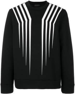 Diesel Black Gold crew neck stripe jumper