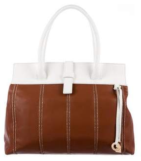 Loro Piana Bicolor Leather Tote