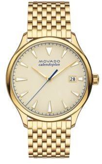 Movado Heritage Yellow Gold Ion-Plated Stainless Steel Bracelet Watch