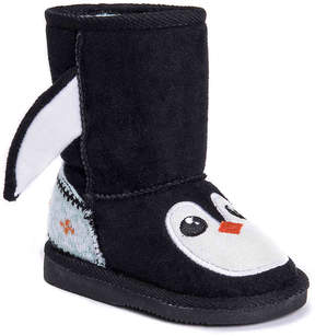 Muk Luks Girls Echo Penguin Toddler Boot
