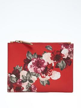 Floral Medium Flat-Zip Pouch