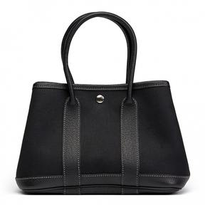 Hermes Garden Party cloth handbag - BLACK - STYLE