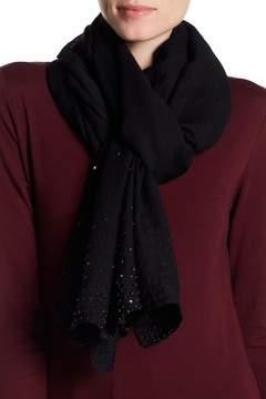 Saachi Ines Tonal Hand Beaded Wool Scarf