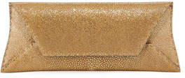 VBH Manila Stretch Stingray Clutch Bag, Gold Leaf