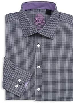 English Laundry Men's Textured Cotton Dress Shirt