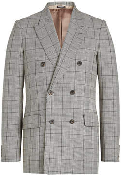 Alexander McQueen Virgin Wool Blazer with Mohair