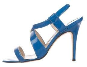 Manolo Blahnik Patent Leather Crossover Sandals