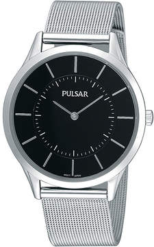 Pulsar Mens Stainless Steel Mesh Watch PTA499X