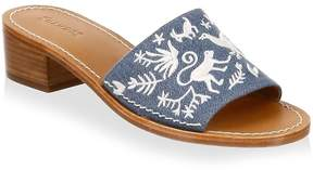Soludos Women's Otomi Denim Slides