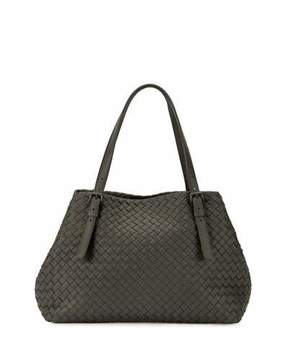 Bottega Veneta Intrecciato Medium A-Shaped Tote Bag, Light Gray