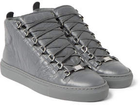 Balenciaga Arena Creased-Leather High-Top Sneakers