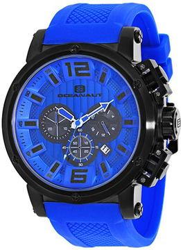 Oceanaut Spider Collection OC2141 Men's Stainless Steel and Blue Silicone Watch