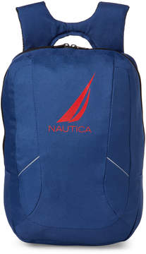 Nautica Navy Paneled Nylon Backpack
