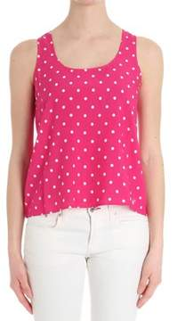 Sun 68 Women's Fuchsia Viscose Tank Top.