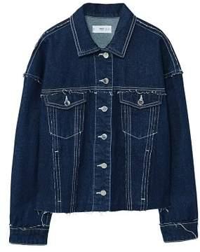 MANGO Contrasted seams denim jacket