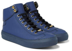 Jimmy Choo Argyle Textured-Leather High-Top Sneakers