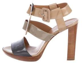 Hermes Patent Leather Buckled Sandals
