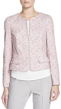 Basler Zip Front Printed Jacket
