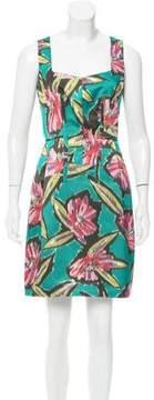 Derek Lam Floral Print Satin Dress