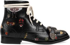 Queercore embroidered brogue boot