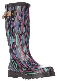 Chooka Paradox Buckle Rain Boots, Multi.