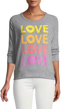 Chaser Love Heart Knit Top