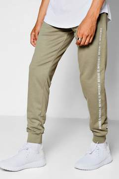 boohoo Super Skinny Jogger With Text Print