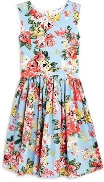 Aqua Girls' Floral-Print Fit-and-Flare Dress, Big Kid - 100% Exclusive