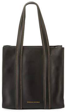 Brunello Cucinelli Smooth Leather Tote Bag with Monili Trim