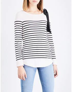 Claudie Pierlot Breton striped cotton-blend top