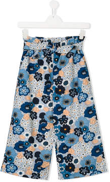 Chloé Kids floral cotton trousers
