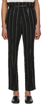 Haider Ackermann Black and White Kunzite Double Waisted Trousers