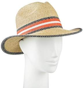Merona Women's Panama Hat Black White and Coral