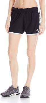 adidas Women's Climalite Ultimate Woven 3 Stripe Short (Medium, Regular)