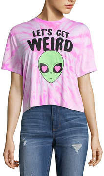 Fifth Sun Let's Get Weird Graphic Cropped Tee - Juniors