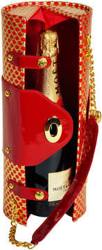 Picnic at Ascot Wine Carrier & Purse -Patent Red