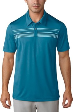 adidas Men's Chest Stripe Golf Polo