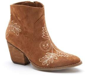 Matisse Axis Suede Embroidered Bootie