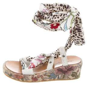Roberto Cavalli Girls' Printed Wedge Sandals