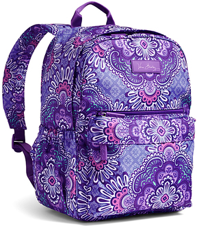 Vera Bradley Lilac Tapestry Lighten Up Just Right Backpack - LILAC - STYLE