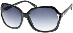 Nine West Womens Square Black Sunglasses One Size Black
